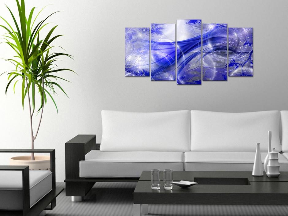 Tableau de décoration en multipanneau abstrait