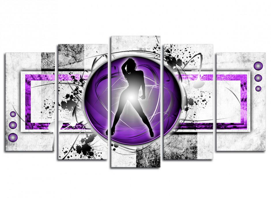 Tableau toile deco abstraite Dancing