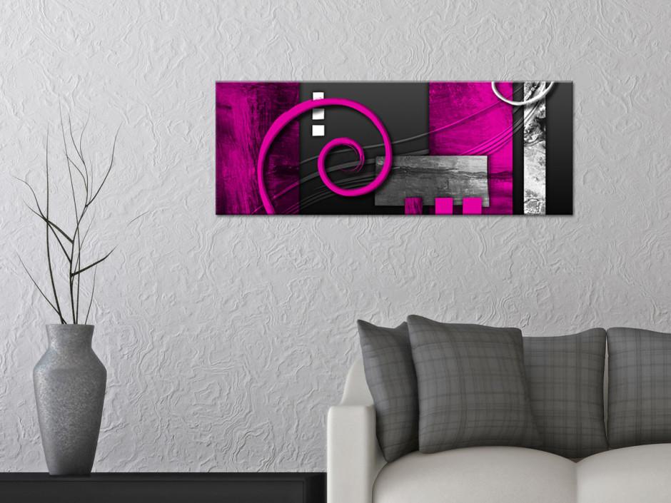 Tableau decoration murale abstraite panoramique