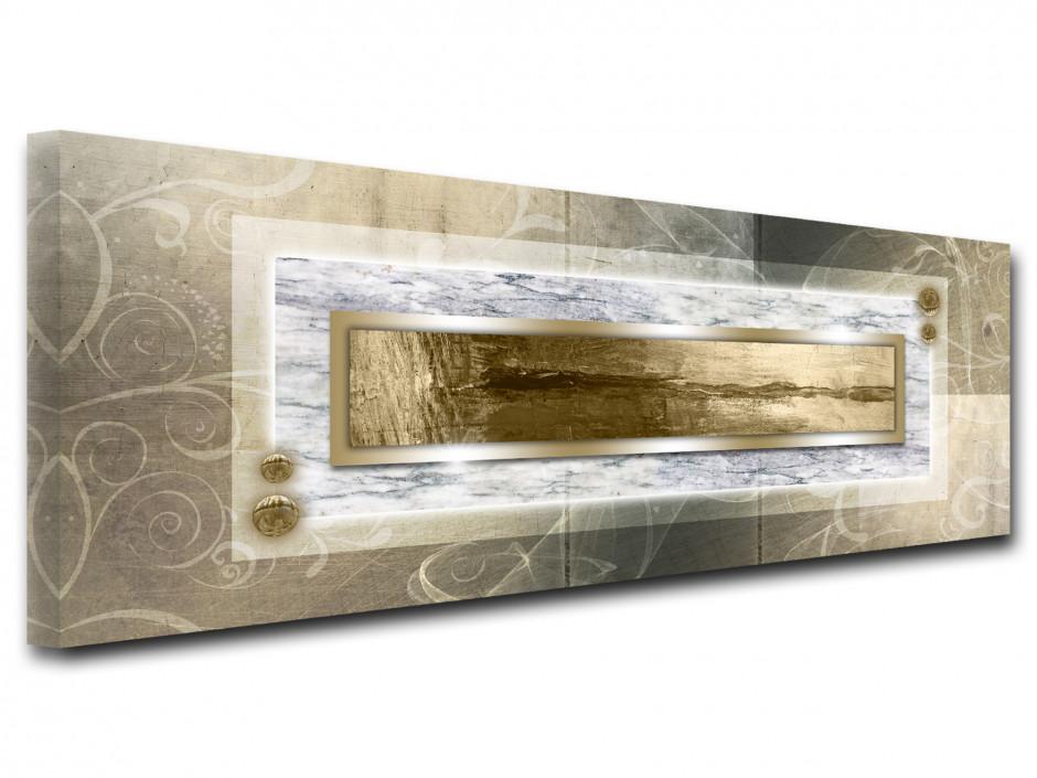 Tableau toile deco abstrait panoramique