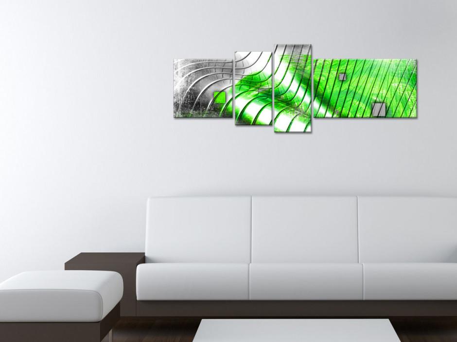 Tableau toile deco moderne abstrait Stries