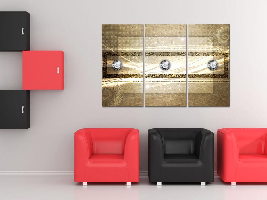 Tableau triptyque design Abstrait