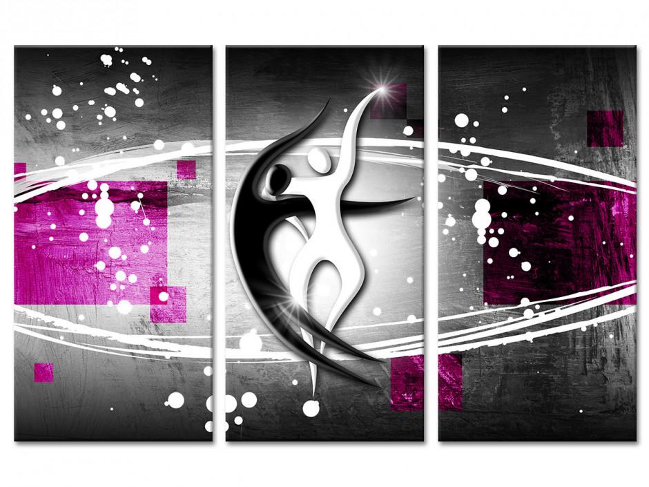 Tableau deco triptyque Abstrait