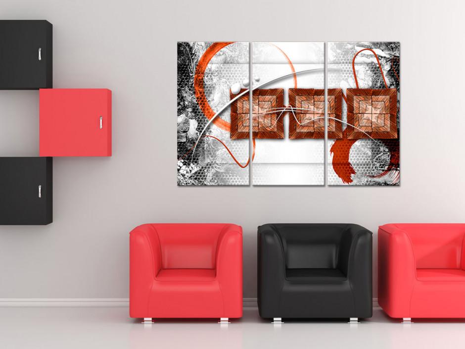 Tableau deco design abstrait triptyque