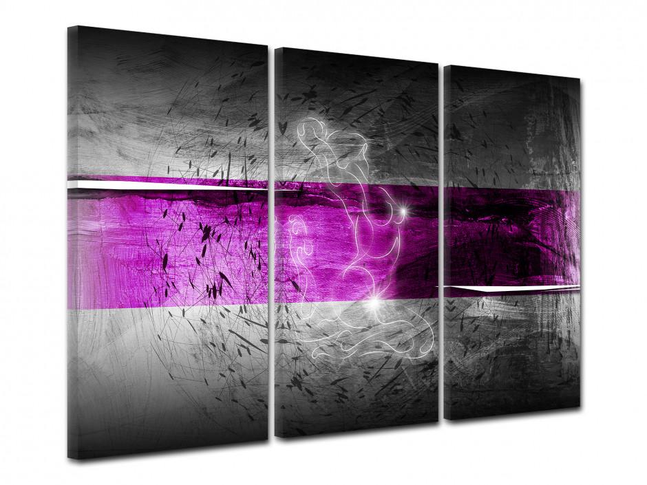 Tableau deco murale triptyque Abstrait