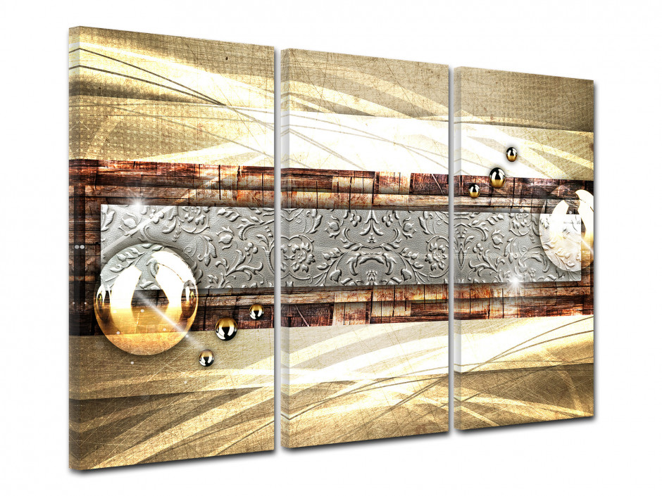 Tableau decoratif abstrait triptyque