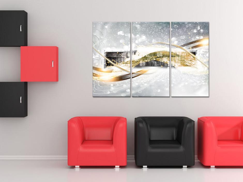 Tableau decoratif triptyque moderne