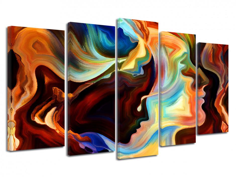 Tableau décoratif moderne multipanneaux Abstrait