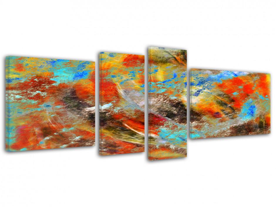 Tableau quadriptyque moderne Abstrait