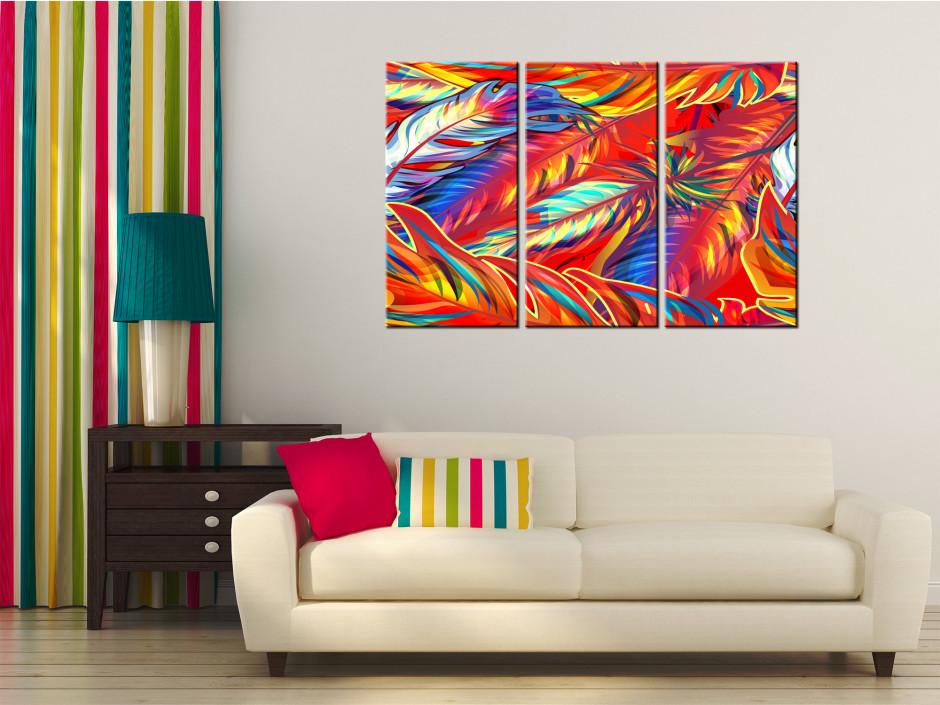 Cadre toile décoratif triptyque Naos