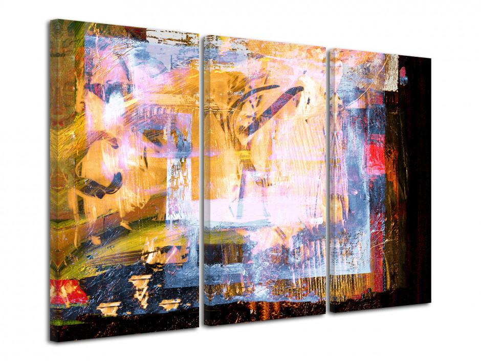 Cadre triptyque abstrait Dschubba