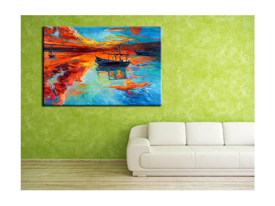 Cadre décoratif toile abstraite Kuma