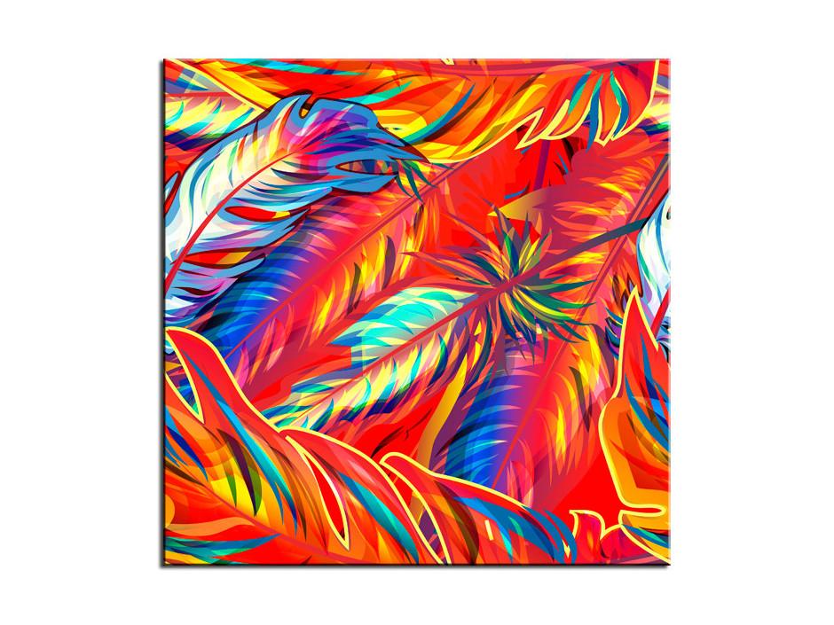 Cadre muraux décoratif Plumes colorées