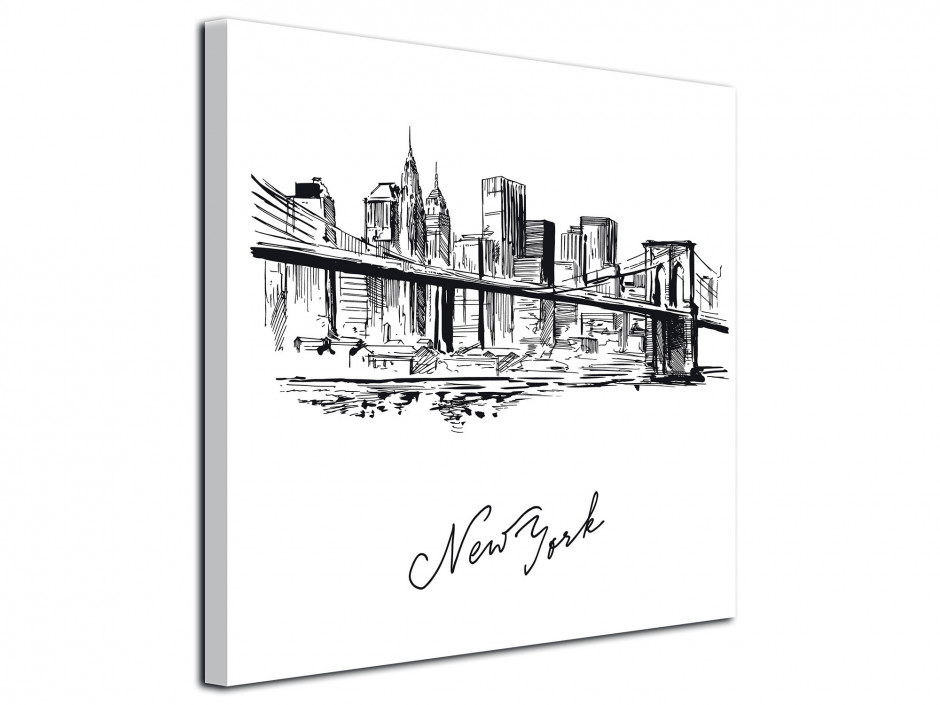 Tableau deco moderne dessin New York