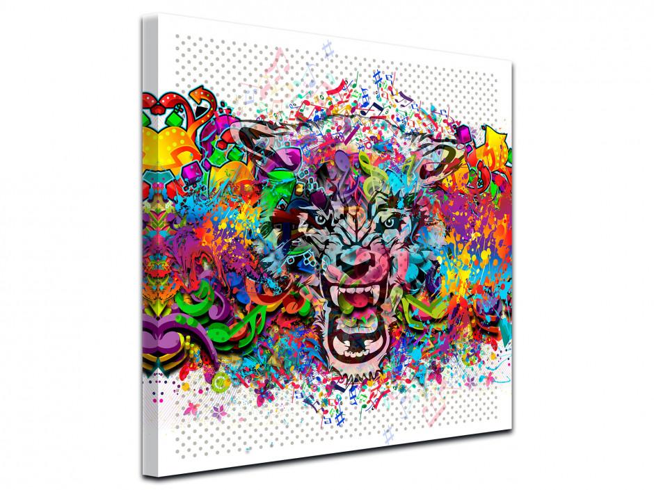 Cadre deco design Tête de lion