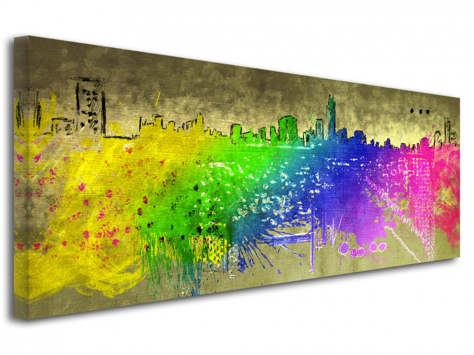 Tableau decoratif City Color