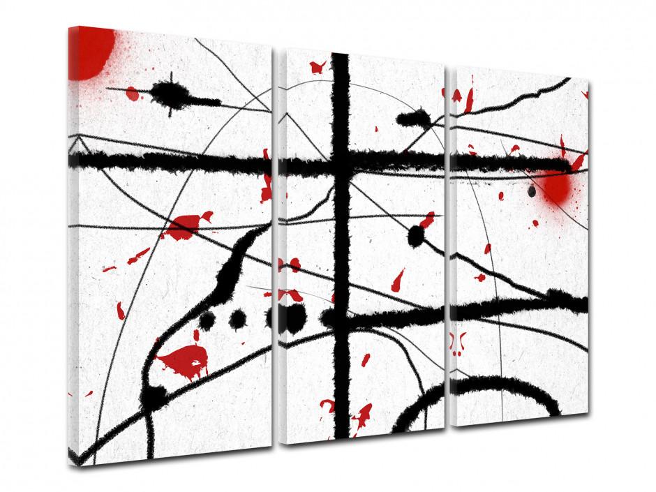Tableau toile deco peinture abstraite