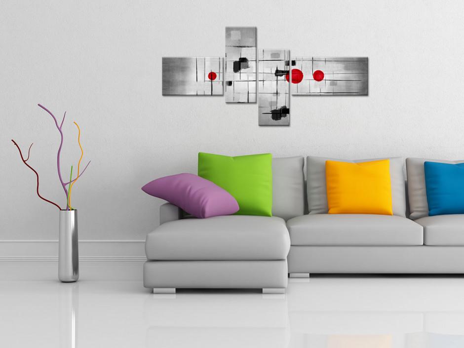 Cadre déco moderne en 4 panneaux