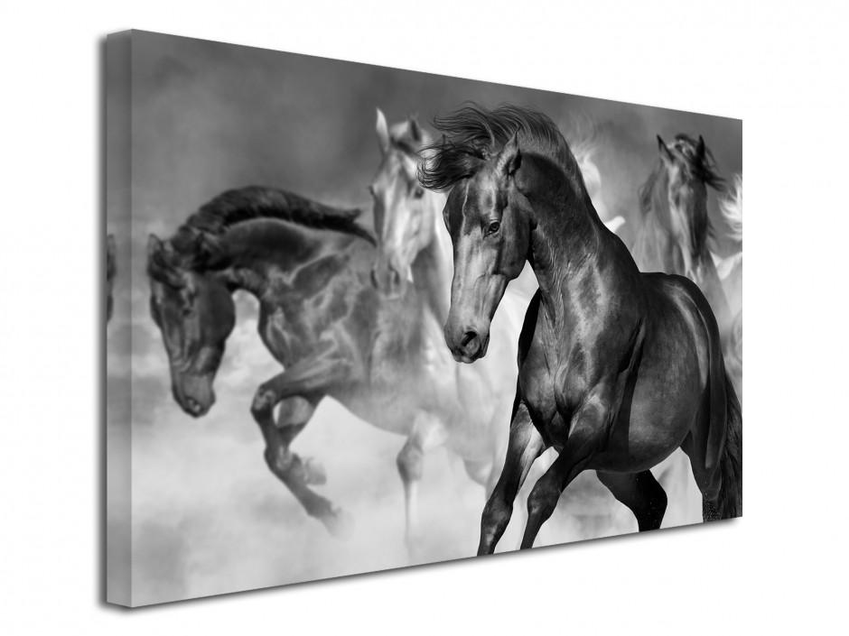 Tableau deco course de chevaux