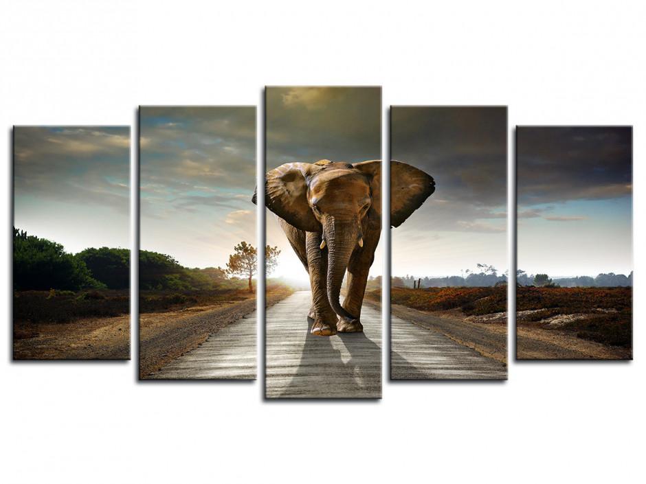 Tableau décoratif sur toile d'élephant