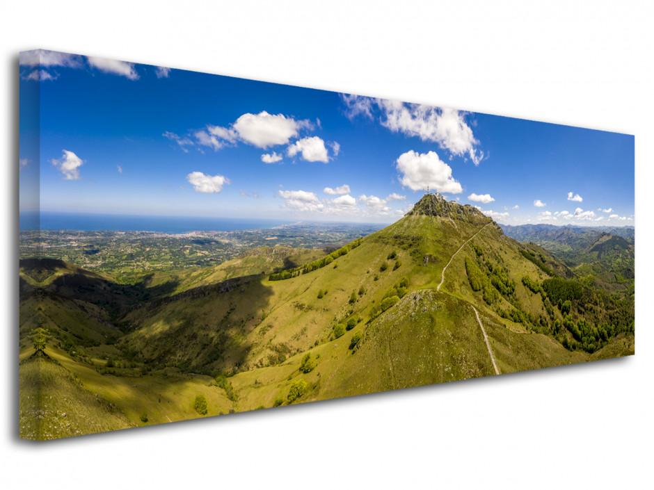 Tableau photographie du Pays Basque La montagne de la Rhune