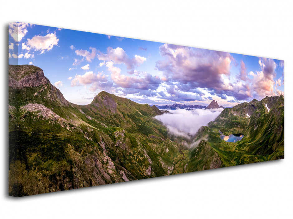 Tableau photo Paysage panorama sur la vallée d'ossau