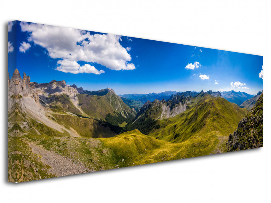 Tableau photo panoramique La Vallée d'Ansabère
