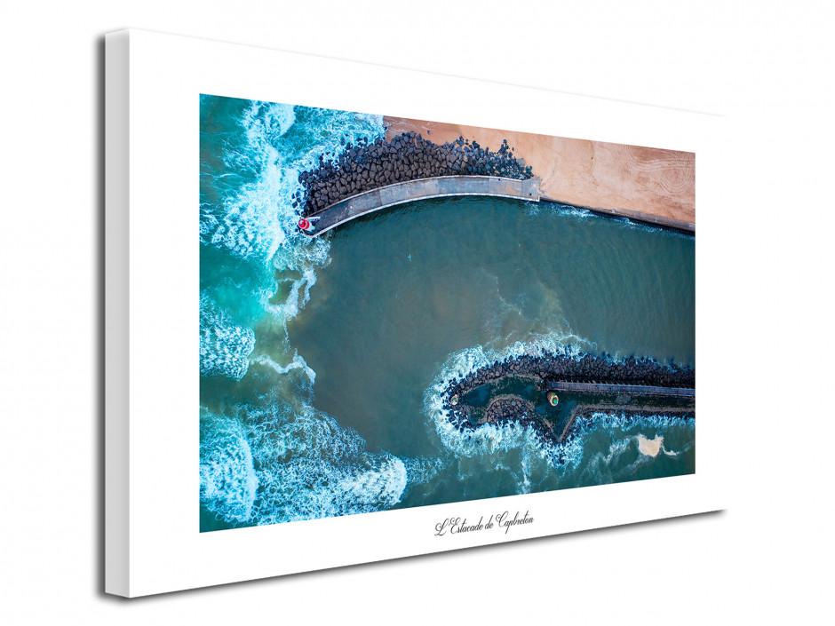 Tableau photo Estacade de Capbreton Vue du Ciel