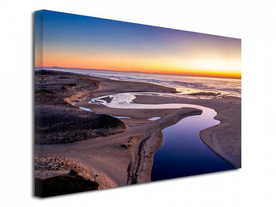 Tableau photo paysage coucher de soleil Courant d'Huchet