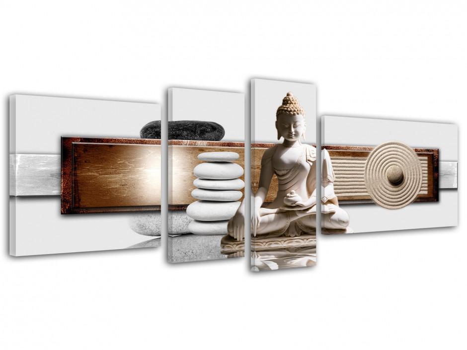 Tableau deco Bouddha 4 panneaux