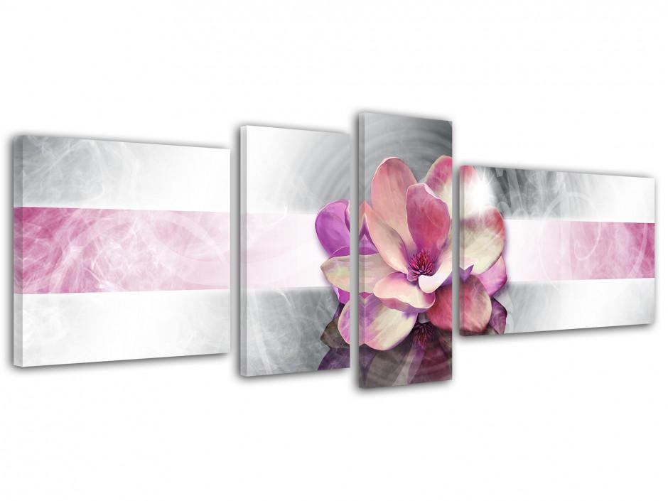 Tableau toile deco Fleurs Rose