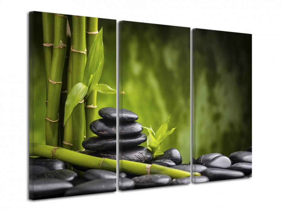 Tableau deco Zen Galets et Bambou