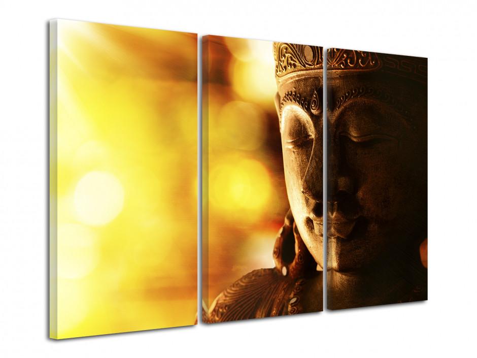 Tableau deco Zen Bouddha doré