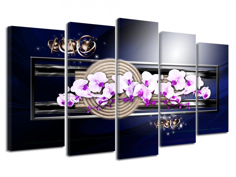 Tableau deco zen design orchidée