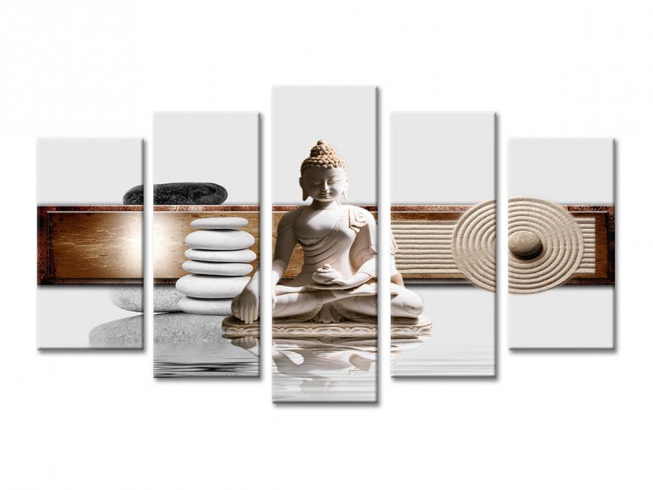 Tableau décoration zen Galet et Bouddha