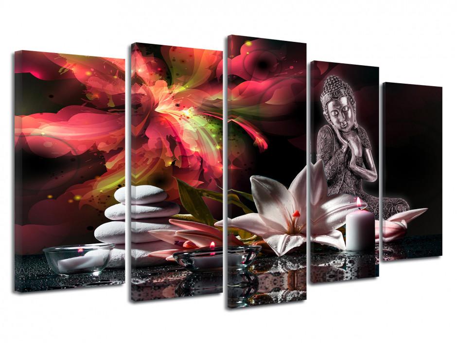 Tableau décoratif Zen Fleurs et Bouddha