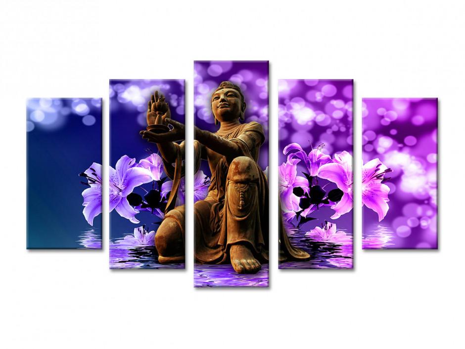Tableau toile décoratif Zen et Orchidée