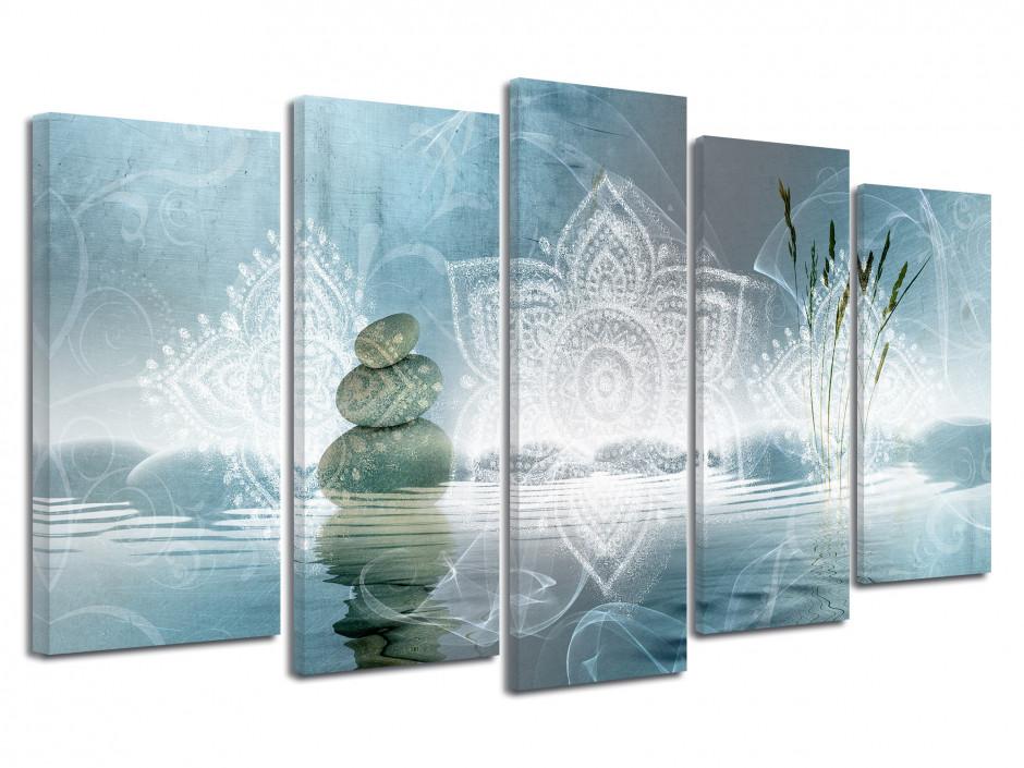 Tableau grand format Zen et Galet