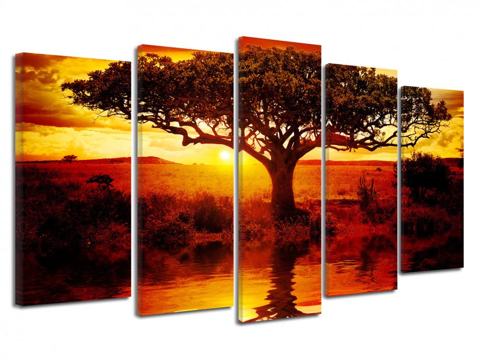 Tableau cadre photo l'arbre de vie de la savane