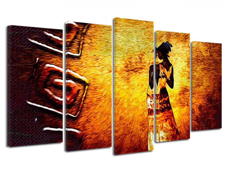 Tableau toile décoration murale peinture Africaine