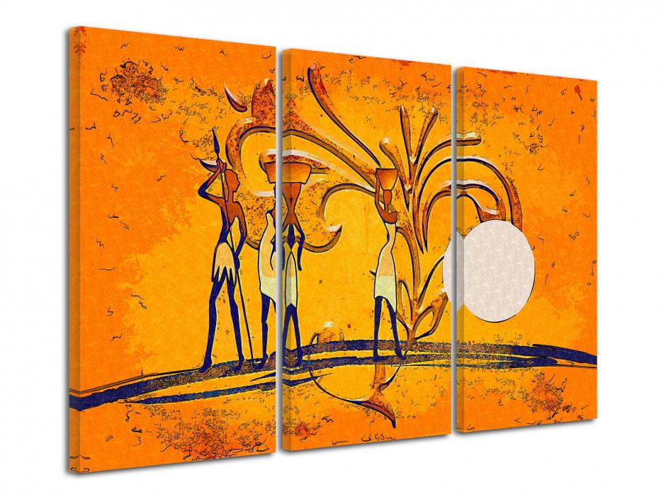 Tableau moderne une vision de L'Afrique.