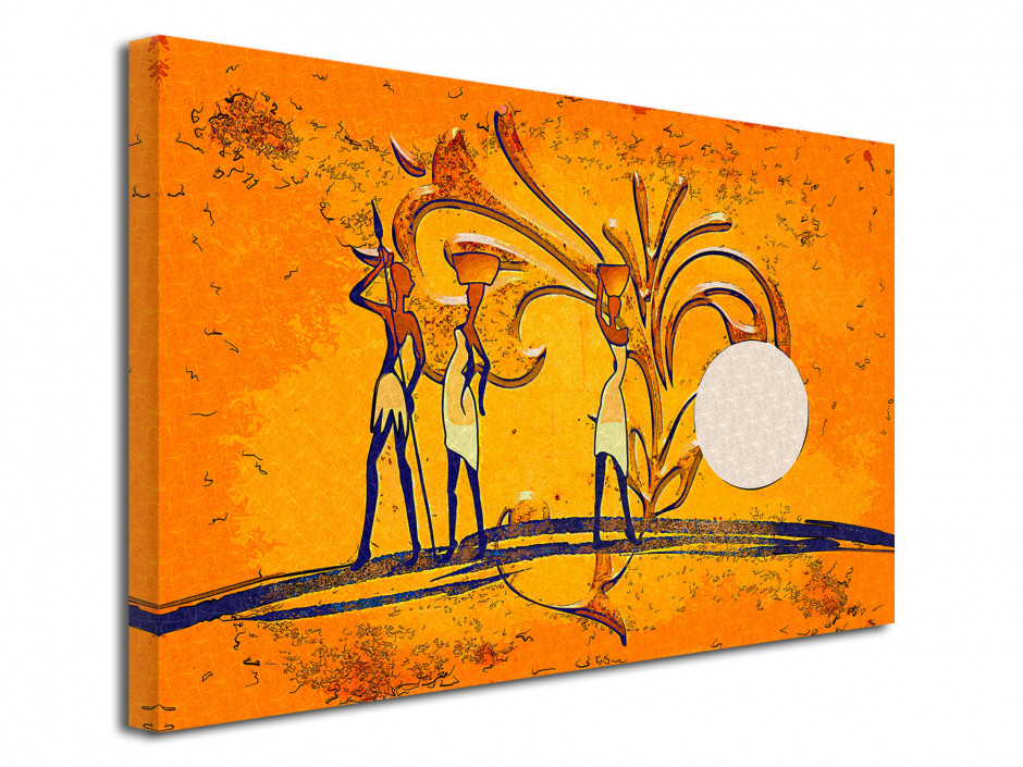 Tableau cadre peint L'Afrique Abstraite