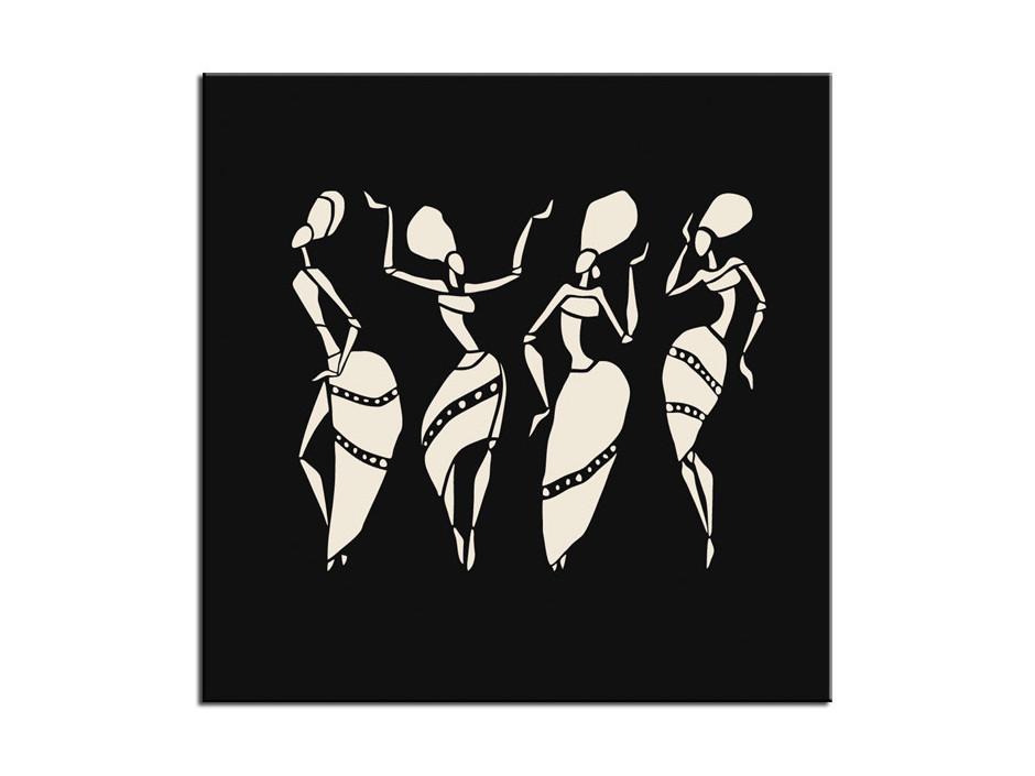 Tableau peinture vision moderne noir et blanc