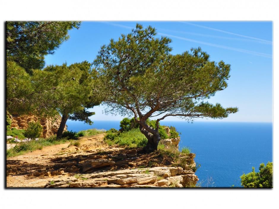 Tableau toile décoratif paysage de la côte d'azur