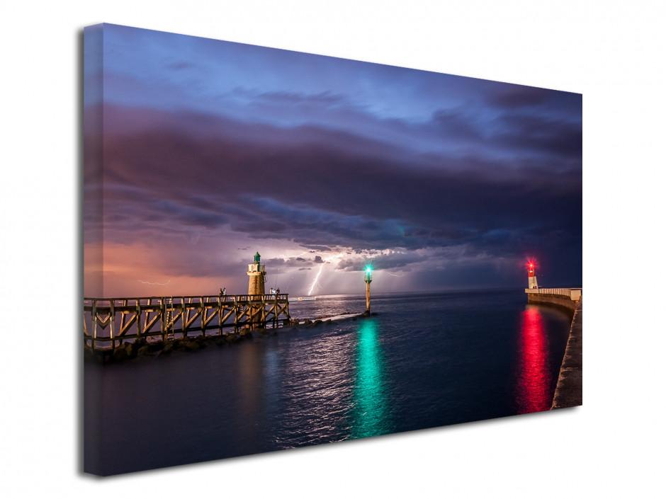 Tableau toile paysage avis d'orage sur Capbreton