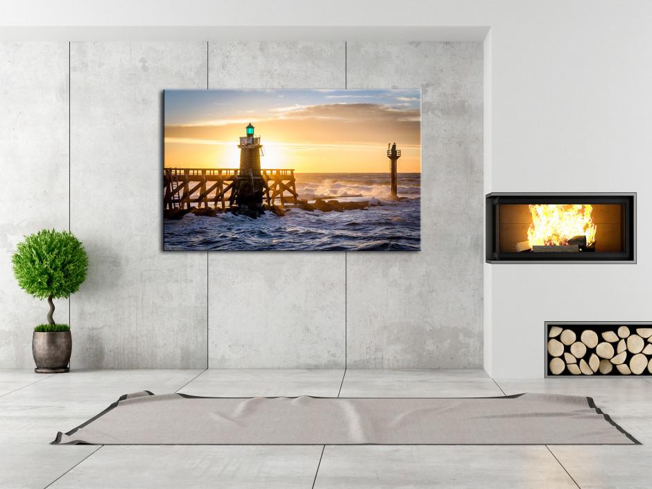 Tableau photo sur toile coucher de soleil Capbreton