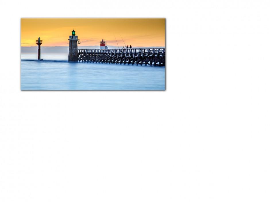 Tableau toile photo COUCHER DE SOLEIL CAPBRETON
