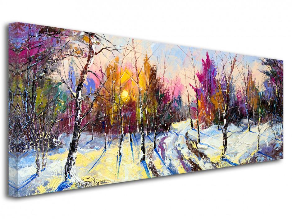 Tableau peinture sur toile paysage - Décoration