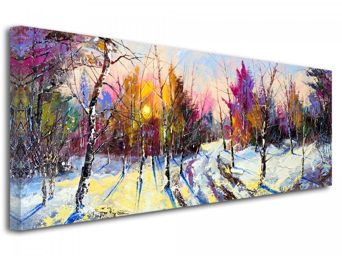 Tableau peinture sur toile paysage - Décoration murale pas cher