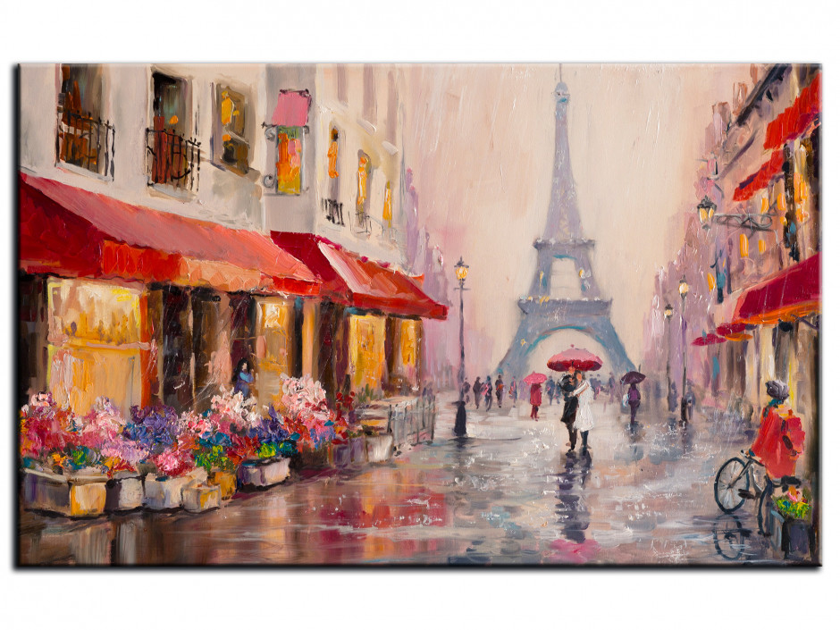 Tableau toile imprimée effet peinture Paris